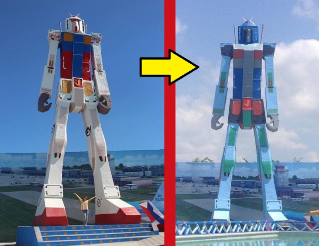Resort in the Philippines decides to stop ripping off Gundam, rip off another robot instead