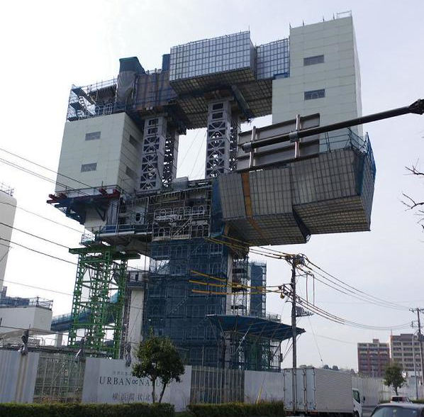 Insane-looking construction site in Yokohama is, amazingly, neither a giant robot nor a deathtrap