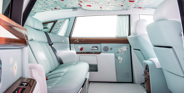 Rolls-Royce's new sedan, with silk and cherry blossoms, is as luxurious as a Japanese garden