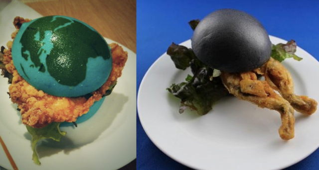 Frog burgers join the earthy line-up at cafe in Yokohama