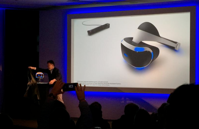 Sony shows off its new and improved virtual reality headset, promises 2016 release date