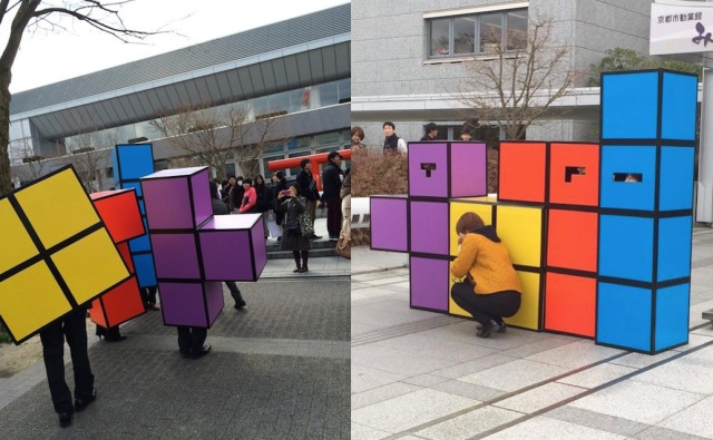You haven't really graduated unless you were dressed as Tetris 【Photos】