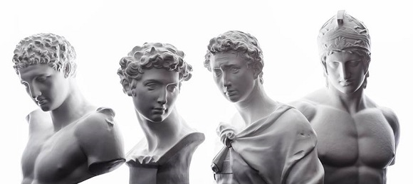 Japan's newest models are all about their busts: Classical statues reimagined as fashion idols