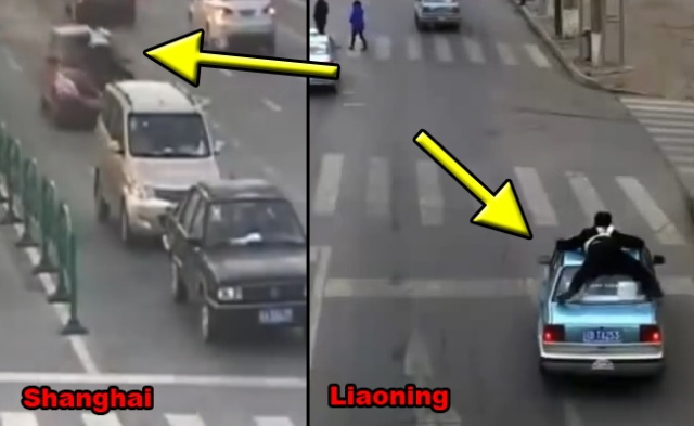China's traffic cops are really into their job, possibly action heroes