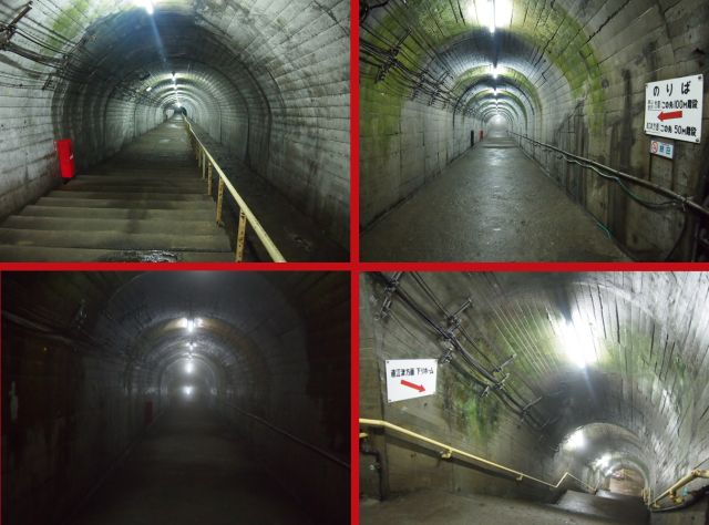 Crazy station's 290 steps from gate to platform make it the deepest and spookiest in Niigata