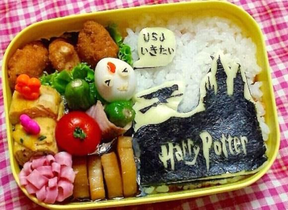 Harry Potter, Universal Studios Japan, USJ, Kyaraben charaben character bento, iyagarase, harassment bento, ttkk blog Kaori