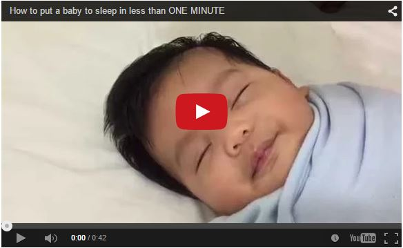 """""""How to put a baby to sleep in less than one minute"""" video goes viral in Japan, around the world"""