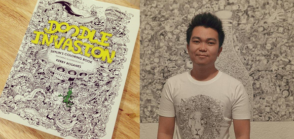 Filipino artist captivates with beautiful ink drawings, invites us to do the coloring ourselves