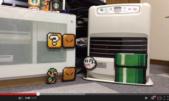 Check out this incredible stop-motion Super Mario video featuring Luigi and some cool bead art