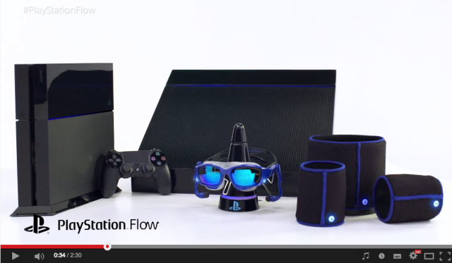 "Sony chooses today to announce ""PlayStation Flow"" goggles, body sensors and post-swim dryer"