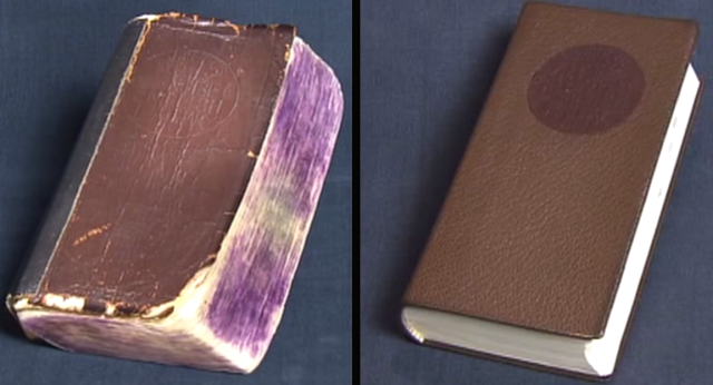 Japanese craftsmen strike again: Make an old, beaten-up book look as good as new