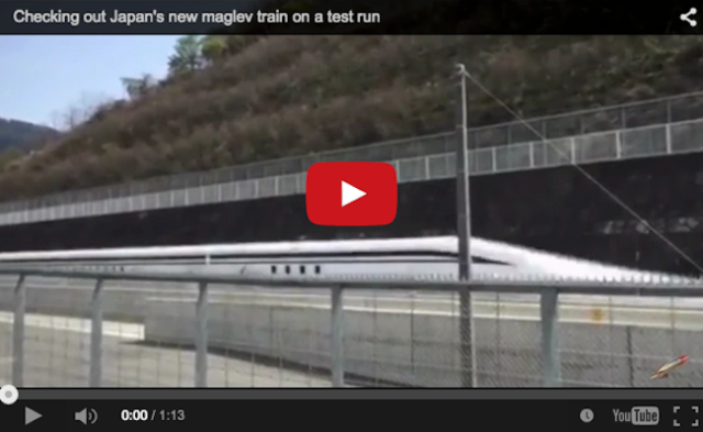 Just how fast is Japan's new maglev train? See for yourself【Video】