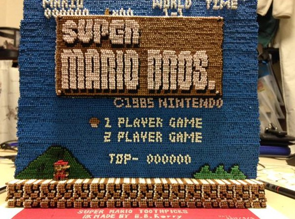 Can you guess what this amazing Super Mario Bros art is made from?