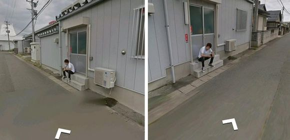 Guy supposedly finds himself sneaking a smoke at work on Google Street View