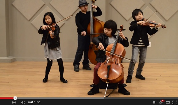 Pint-sized string quartet Joyous String does an awesome Smooth Criminal