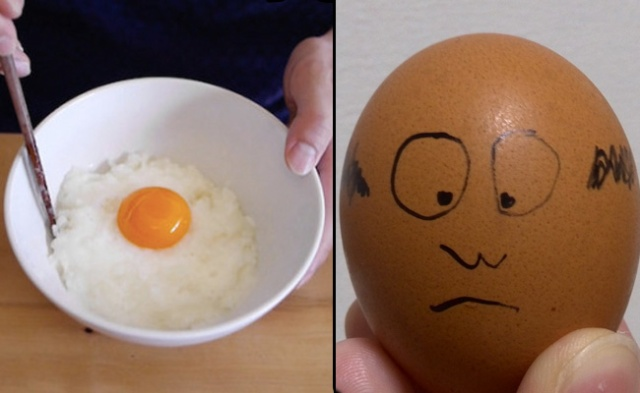 Raw eggs may lead to heads as bald as eggs