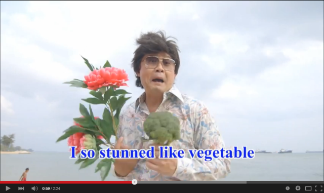 Un-un-unbelievable music video by Singaporean actor will leave you stunned like vegetable 【Video】