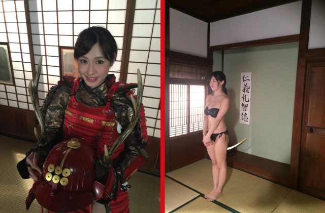 Samurai and swimsuit models? New TV show offers both in one sexily convenient place 【Photos】