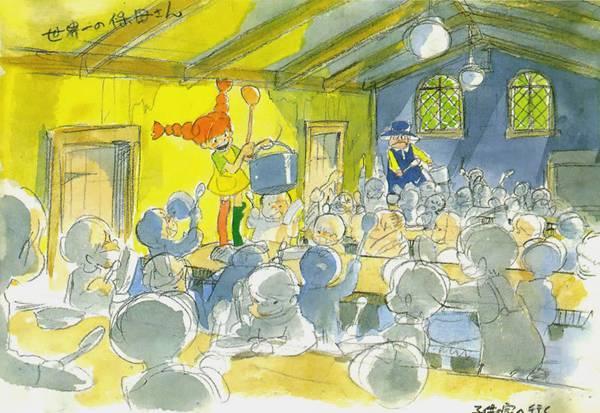 Book shows the art of the Hayao Miyazaki Pippi Longstocking anime we never got