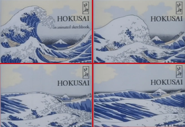 Stirring animated version of Hokusai paintings is like watching anime from the Edo period 【Video】