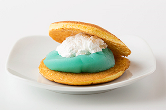 Japanese sweets lovers soon to be in their blue heaven with beautiful aqua-color Ramune dorayaki