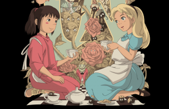You know what? An Alice in Wonderland/Spirited Away mashup actually kind of works!