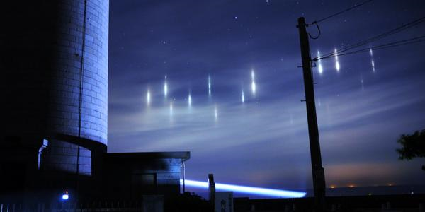 Strange lights appear in the skies of Japan, but thanks to fish, not aliens