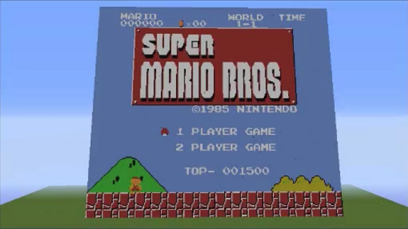 Dedicated fan recreates video play-through of Super Mario Bros… in Minecraft