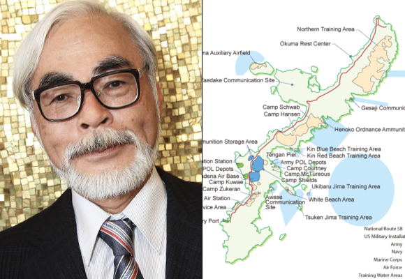 Hayao Miyazaki joins politicians and CEOs donating millions to protest U.S. military in Okinawa