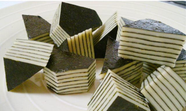 Cheese and seaweed treats are as tasty as they are visually appealing