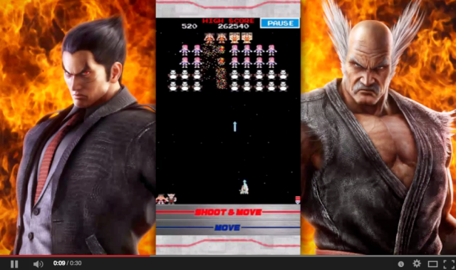 Galaga x Tekken crossover app previewed in video