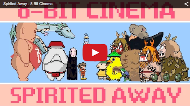 Ghibli's Spirited Away film shrunk into 5-minute, 8-bit video