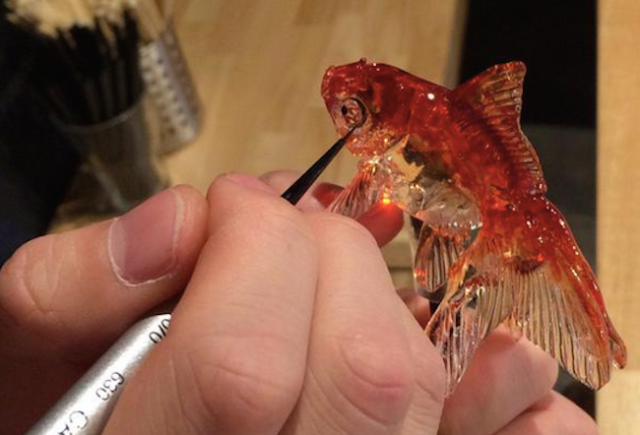 Young Japanese artist crafts exquisite animal-shaped candy at his shop in Asakusa