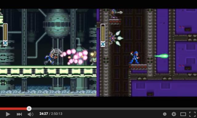 Player uses 1 controller to run through Megaman X & Megaman X2 simultaneously