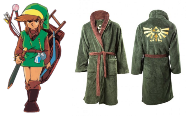 Legend of Zelda robe is perfect for relaxing after you step out of your master bath