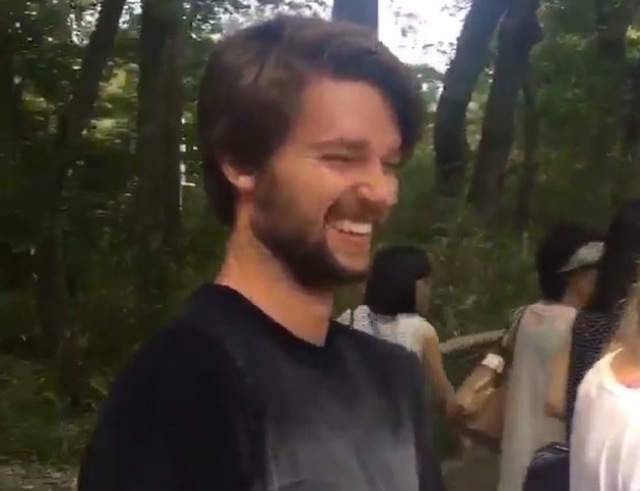 Patrick Schwarzenegger comes under fire in Japan after pranking stranger at Kyoto temple