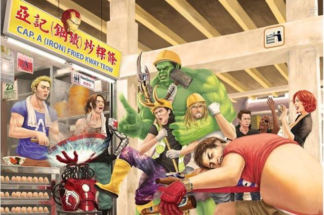 Artist reimagines alternate universe of Captain America: Civil Wok