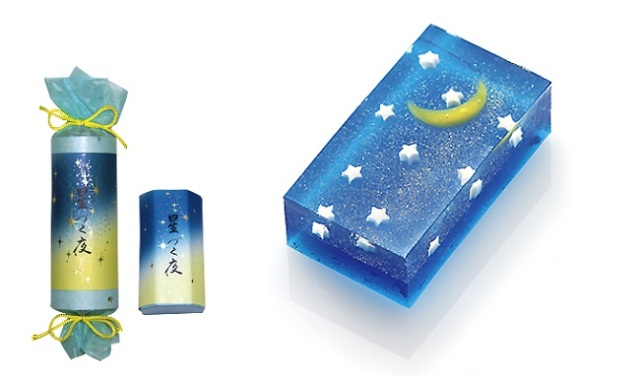A beautiful and glittering Kyoto confection perfect for enjoying a starry summer's night