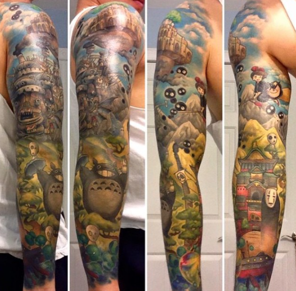Hayao Miyazaki may be retired, but these Studio Ghibli tattoos will last forever 【Photos】