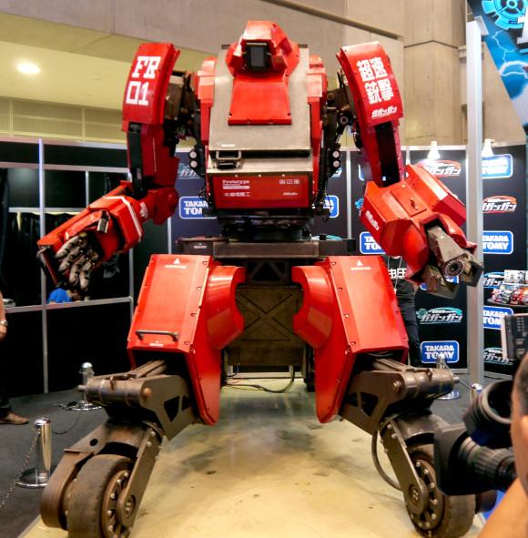 We bump into Kuratas, the 120 million-yen robot, at the Tokyo Toy Show