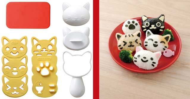 Turn rice balls into rice kitties with this adorable omusubi kit!