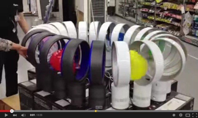 Boredom might be behind brilliant Dyson fan loop spotted in Japanese electronics store