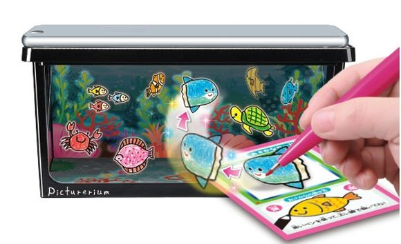 What sorcery is this?! New toy aquarium is populated with your own hand-drawn fish 【Video】