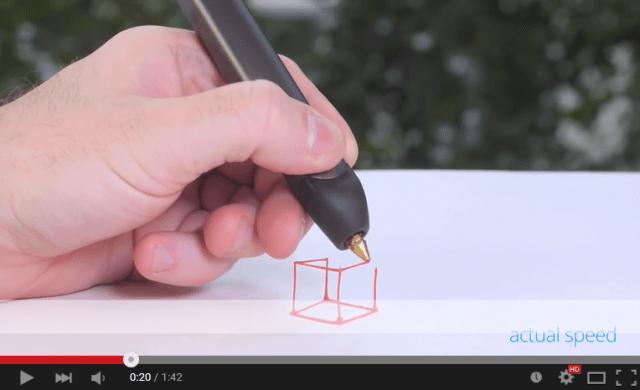 Amazing 3-D printing pen 3Doodler gets a cheaper, slimmer version and workshops in Tokyo 【Video】