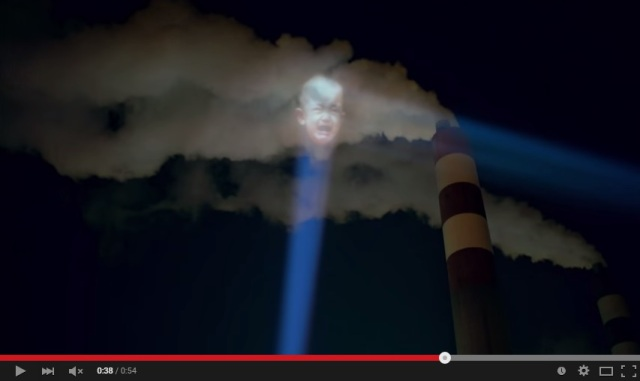 Chinese company shines light on air pollution…creepy baby light