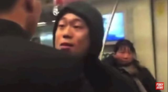 Check out this thug on a train getting owned after picking a fight with the wrong guy