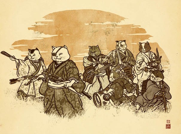 Samurai cats look awesome, teach us about Japanese history and culture at the same time