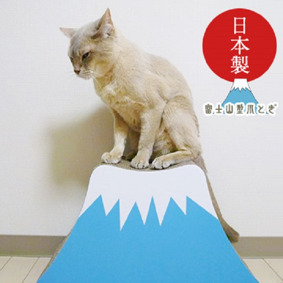 Celebrate the arrival of the Mt Fuji climbing season with a mini mountain for cats