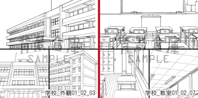 Want to be a manga artist, but can't draw backgrounds? Website has environments you can download