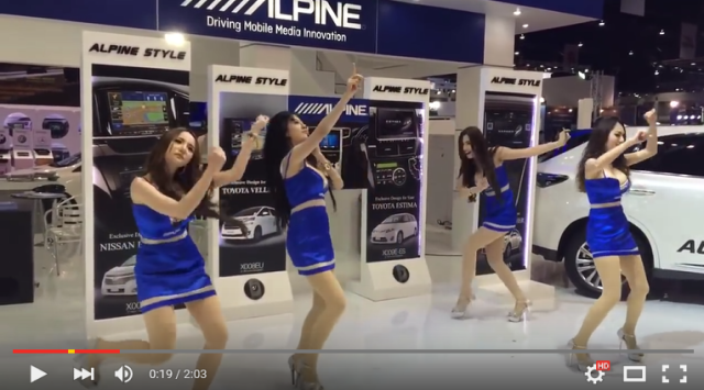 Hilariously awkward dancing models at car show prove all publicity is good publicity 【Video】